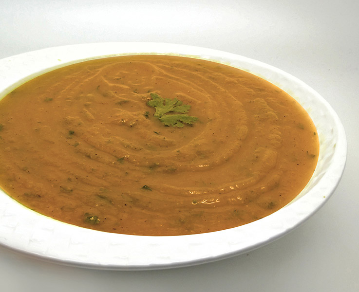 Squash and coriander soup